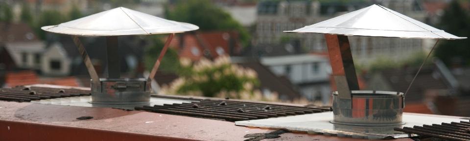 Schornsteine auf Dächern Chekk Schornsteinfeger